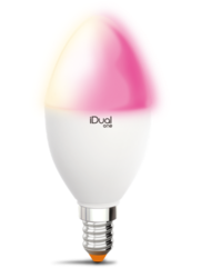 Ampoule E14 Led color iDual Blanc Plastique 653006