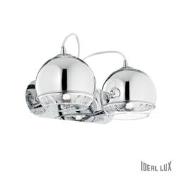 Applique 2 lampes design Ideal lux Discovery Chrome Métal 082431