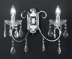 Applique 2 lampes design Wofi Arizona Chrome 4225.02.01.0000