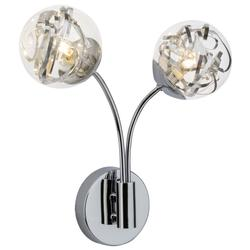 Applique 2 lampes led Brilliant Cinta Chrome Acier G22692/15