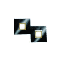 Applique 2 lampes led Grossmann Karree Noir brillant Aluminium 72-783-375