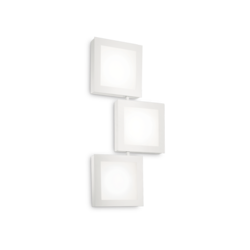 Applique 3 lampes design Ideal lux Union Blanc Métal 142203