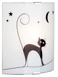 Applique design Brilliant Cat Blanc 01 Verre 05910/75