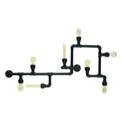 Applique industrielle Ideal lux Plumber Noir Métal 136714