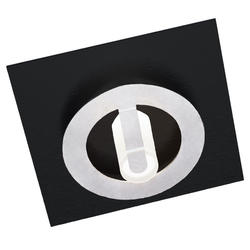 Applique led Grossmann Q Noir mat Aluminium 51-818-068