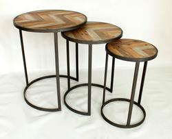 Ensemble de tables gigognes Lo design Vendange Noir Bois LO00016449