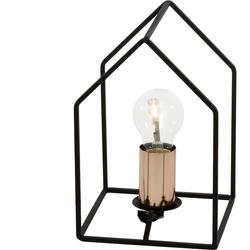 Lampe design Brilliant Home Noir Acier 94906/76