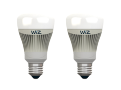Lot de 2 ampoules E27 led connectée Wiz Blanc Plastique 653016