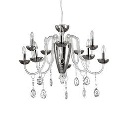 Lustre 11 lampes design Ideal lux Camelia Transparent Verre 117799