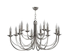 Lustre 12 lampes classique Cvl Chatelet Nickel Nickel LUCHAT12NI