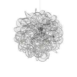 Lustre 12 lampes design Ideal lux Dust Argent Aluminium 114361