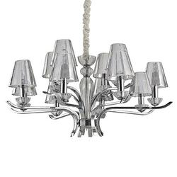 Lustre 12 lampes design Ideal lux Event Chrome Métal 115832