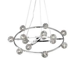 Lustre 14 lampes design Ideal lux Orbital Chrome Aluminium 073835