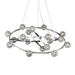 Lustre 18 lampes design Ideal lux Orbital Chrome Aluminium 073859