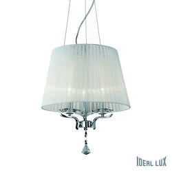 Lustre 3 lampes design Ideal lux Pegaso Chrome Métal 059235