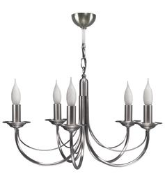Lustre 5 lampes classique Cvl Chatelet Nickel Nickel satiné Laiton massif LUCHAT5NI