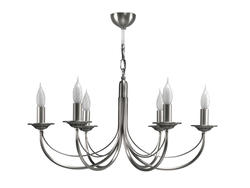 Lustre 6 lampes classique Cvl Chatelet Nickel Nickel Laiton massif LUCHAT6NI