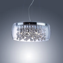 Lustre 8 lampes design Ideal lux Audi 80 Chrome 031750