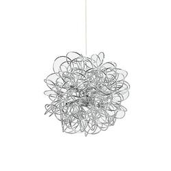 Lustre 8 lampes design Ideal lux Dust Argent Aluminium 114811