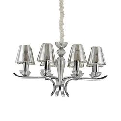 Lustre 8 lampes design Ideal lux Event Chrome Métal 115849