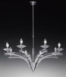Lustre 8 lampes design Metal Lux Icaro Chrome 197.188