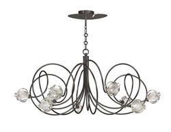 Lustre 9 lampes design Cvl Hypnos Gris Graphite Laiton massif LUHYPN9GH_