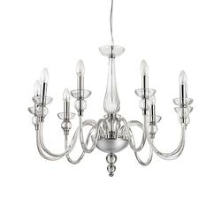 Lustre 9 lampes design Ideal lux Doge Transparent Verre 044453
