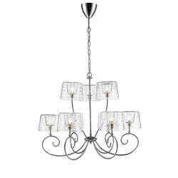 Lustre 9 lampes design Market set Glam Chrome Métal 590400