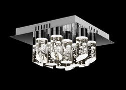Plafonnier 12 lampes led Lo design Chrome Métal LO00011035