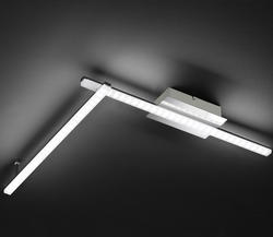Plafonnier 2 lampes led Wofi Clay Chrome Métal 9163.02.01.0000