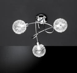 Plafonnier 3 lampes design Wofi ARC Chrome 9306.03.01.0000