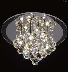 Plafonnier 4 lampes design Mantra Crystal Chrome Métal 2332