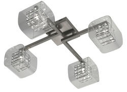 Plafonnier 4 lampes design Market set Tex Nickel 590449