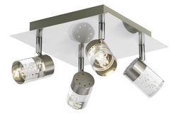 Plafonnier 4 spots led Lo design Nickel Métal LO00011611