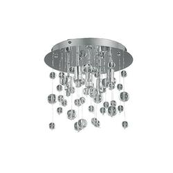 Plafonnier 5 lampes design Ideal lux Neve Chrome Métal 094687