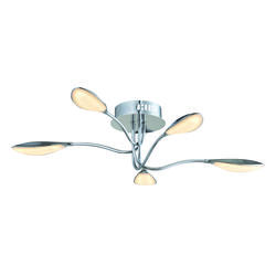Plafonnier led Lo destock Chrome Métal KC10571-5 chrome