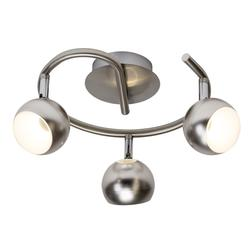 Plafonnier pirale 3 LED Brilliant Inova Nickel satiné Métal G58033/13