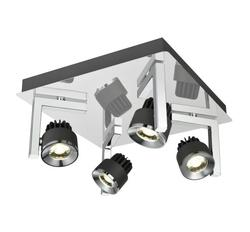 Plafonniers 4 lampes led Lo design Graphite Chrome Métal LO00016436