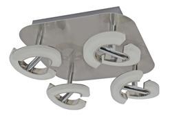 Plafonniers 8 lampes led Lo design Parade Nickel satiné Métal - Verre Acrylique LO00016341