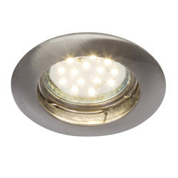 Spot encastré led Brilliant Felizia Nickel satiné Métal G94676/13