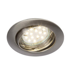 Spot encastré led Brilliant Felizia Nickel satiné Métal G94677/13
