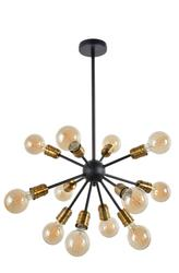 Suspension 12 lampes design Corep Pier Noir Métal 651369