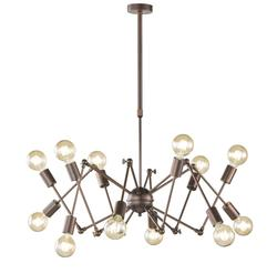 Suspension 12 lampes design Wofi Carmona Antique 6445.12.09.8000