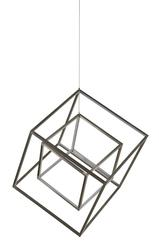 Suspension 2 lampes led Lo design Beaubourg Nickel satiné Aluminium LO00025017