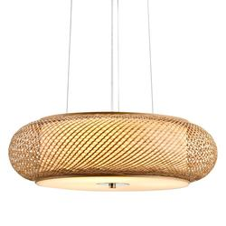 Suspension 3 lampes design Lo Select Eoli Beige Bambou C8004C/1B