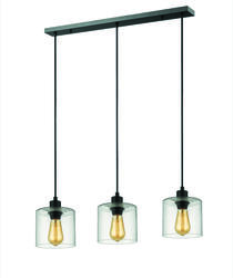 Suspension 3 lampes design Market set Ilo-Ilo Noir Métal PR590085