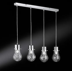 Suspension 4 lampes industrielle Action Futura Chrome 700304010150
