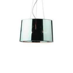 Suspension 5 lampes design Ideal lux London Chrome Métal 032351