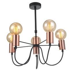 Suspension 5 lampes design Lo design Shuav Or Métal LO00020789