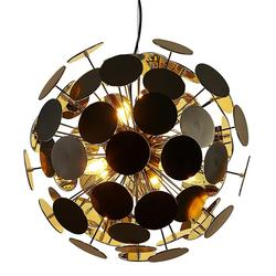 Suspension 5 lampes design Lo Select Bubble Noir Métal P26476BK.GD.5